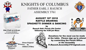 Knights Dinner and Raffle Drawing