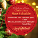 Holiday Mass Schedule