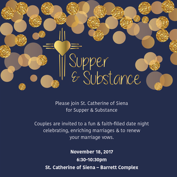 Sign Up for Supper and Substance Date Night