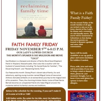 "Faith Family Friday - ""Reclaiming Family Time"" and ""Coco"""