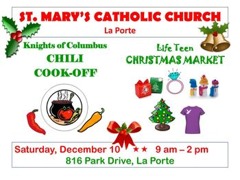 Chili cookoff and christmas market st mary of the for La porte tx city hall
