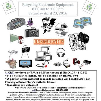 Electronic Equipment Recycling Event