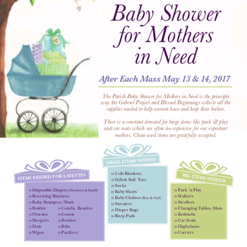 Parish Baby Shower (for Mothers in Need)