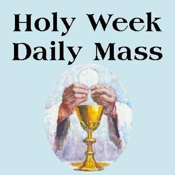 Holy Week Daily Mass on Facebook