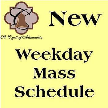 Weekday Mass & Adoration Schedule