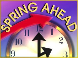 Please turn your clocks Forward!