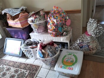 Easter Food Gift Basket for Needy/Disabled Military Families