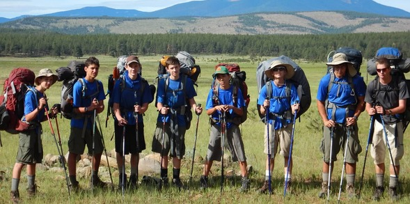 Boy Scouts Hiking