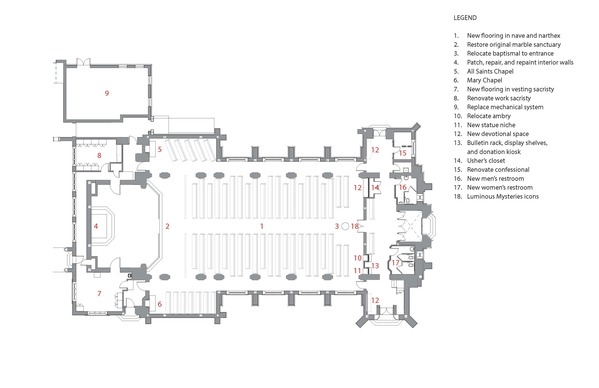 Interior Floor Plan Church Renovations