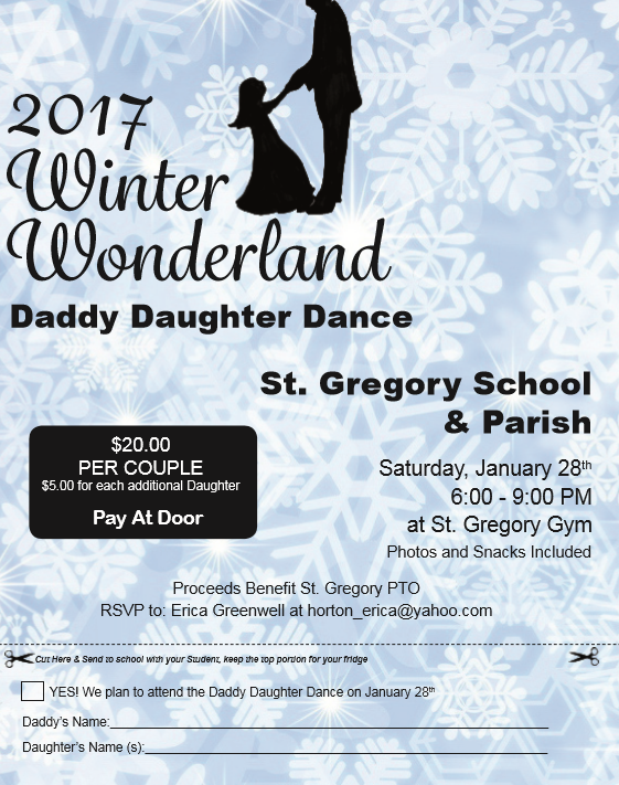 St Gregory Daddy Daughter Dance St Gregory The Great Samuels KY