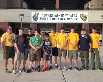Summer fun at the Baby Cakes baseball game