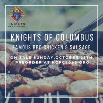 Knights of Columbus BBQ Sunday