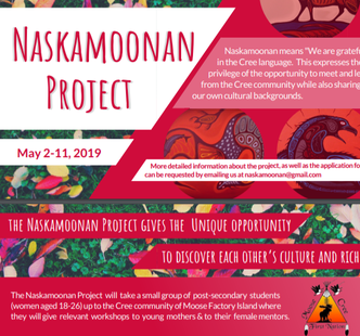 Naskamoonan Project May 3-10, 2019
