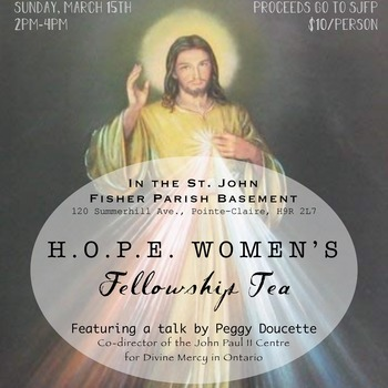 Cancelled - Hope Ladies Fellowship Event -Sun., March 15th