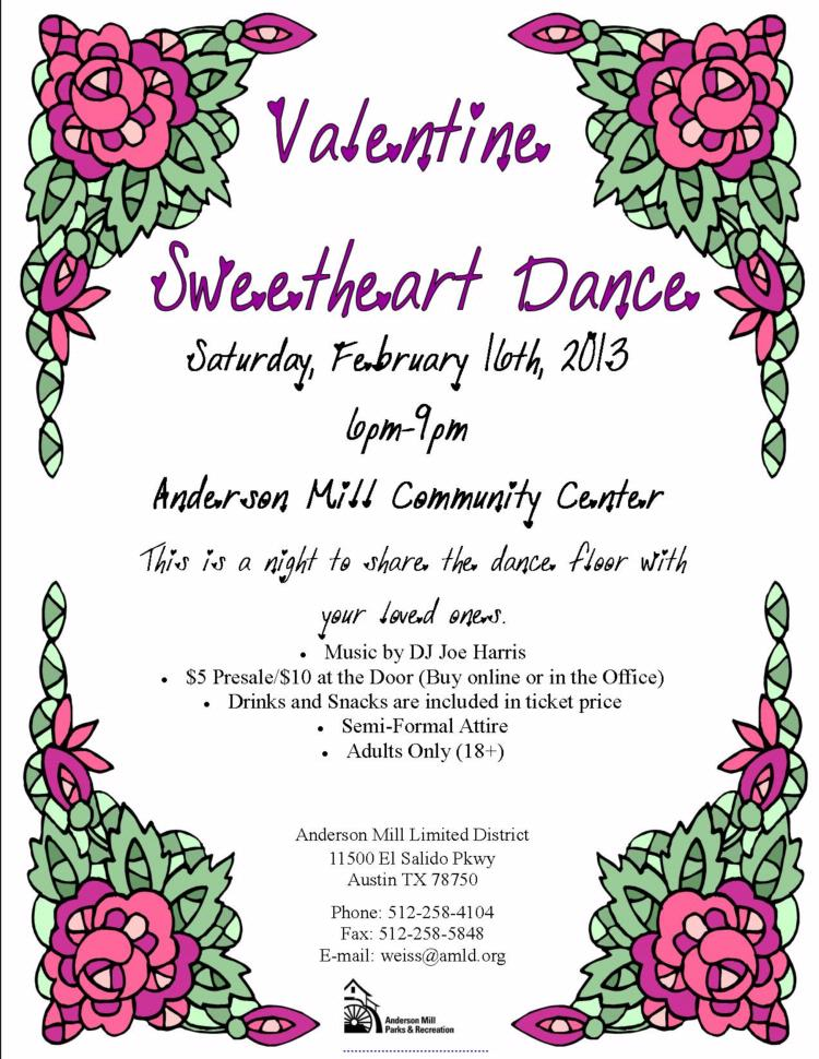 4th Annual Valentine Sweetheart Dance