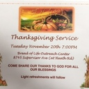 Ecumenical Thanksgiving Service