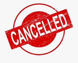 ALL Events and Services Cancelled