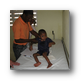 Image of Haitian child receiving medical care