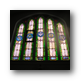 Image of stained glass window in Memorare Chapel