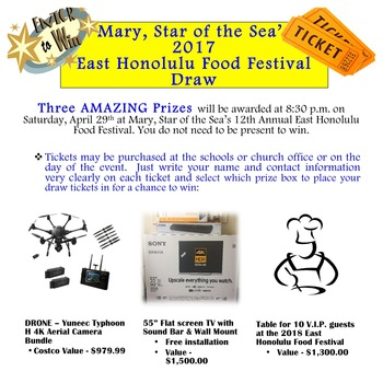 East of Honolulu Food Festival Draw