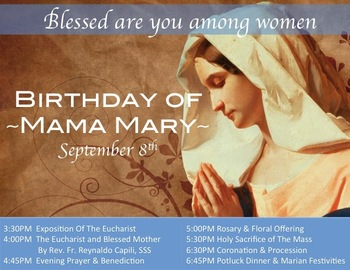 Parish Celebration of the Nativity of Our Blessed Mother
