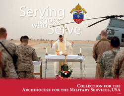 COLLECTION FOR THE ARCHDIOCESE FOR THE MILITARY SERVICES