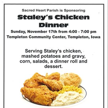 Staley's Chicken Dinner @ Templeton