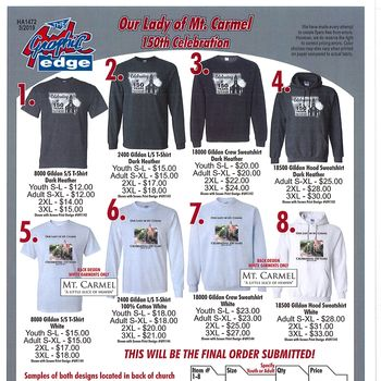 Last Chance to Order OLMC shirts