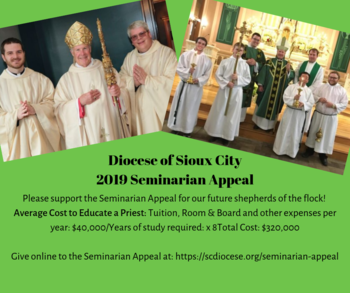 Diocese of Sioux City 2019 Seminarian Annual Appeal