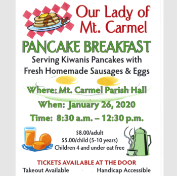 OLMC Pancake Breakfast - January 26 8:30-12:30