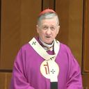 Cardinal Blase J. Cupich, archbishop of Chicago, dispenses the faithful from Easter obligations