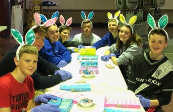 Youth Outreach Group making Easter treats