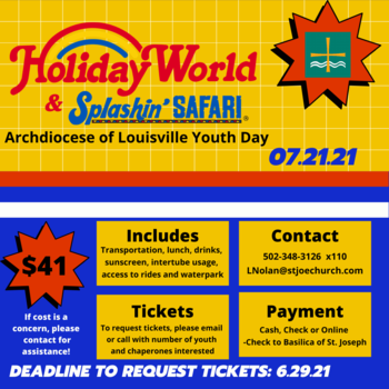 Holiday World - Archdiocese of Louisville Youth day