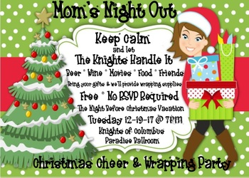 Mom's Night - Tis The Week Before Christmas -Wrapping Party!