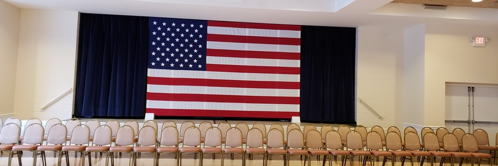What a Flag to honor Our Honor Flight Veterans who visit us - We have that