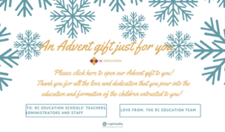 Our gift to RC Schools' teachers, administrators and staff - 22 day Advent challenge.