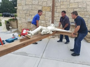 Everest Academy - Lemont receives generous donation of life size body of Christ