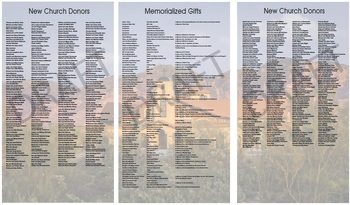 Memorialization Panels - Final Reminder