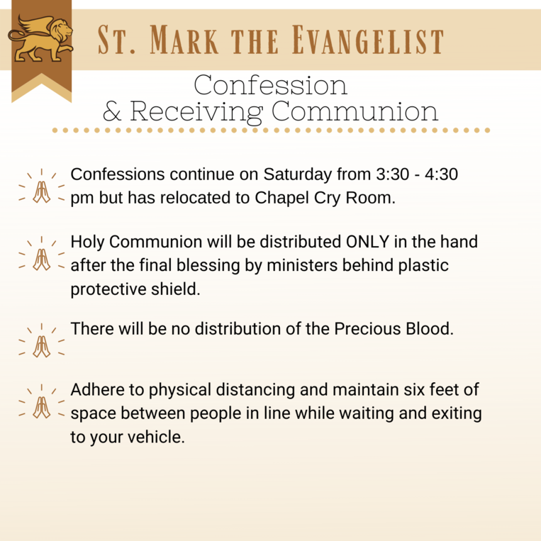 Confession and Receiving Communion