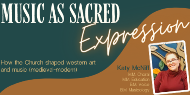 Flyer for Lecture: Music as Sacred Expression