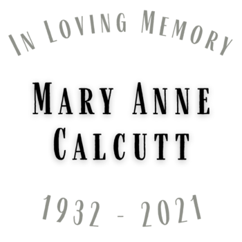 Obituary for Mary Anne Calcutt