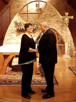 In November, Mr. & Mrs. Birk celebrated their 50th wedding anniversary with a renewal of their Marriage Vows