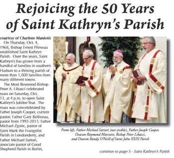 Jubilee Mass in the Hudson-Litchfield News