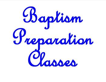 Baptismal Class - HELD AS NEEDED