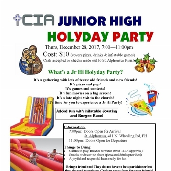 Jr High Holyday Party
