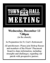 Town Hall Meeting - Priest Placement