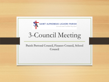 3 Council Meeting - PPC, Finance Council, School Council