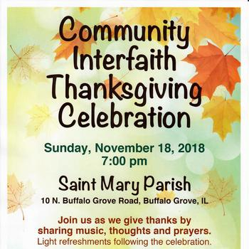 INTERFAITH Thanksgiving Celebration