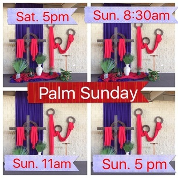 Palm Sunday Saturday Evening Mass (Anticipation Mass)