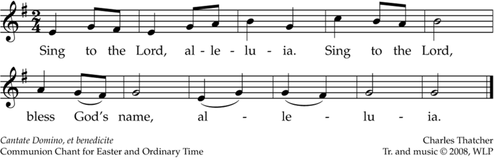 Sing to the Lord, Alleluia